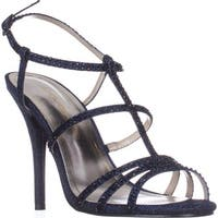 Caparros Groovy Embellished Evening Sandals, Navy Glimmer