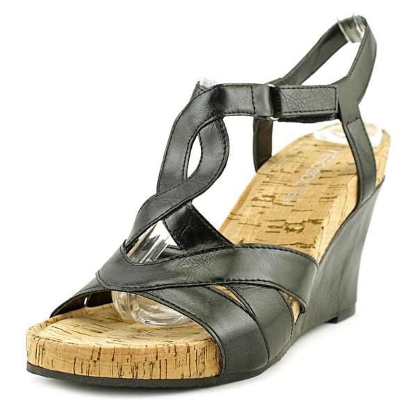 Aerosoles Wonderplush Black Sandals