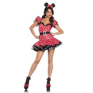 BW1082 S-M Womens Flirty Mouse Costume, 3 Piece - Small & Medium
