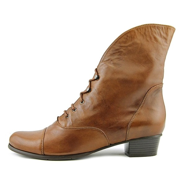 Shop Spring Step Galil Women Round Toe Leather Brown Ankle