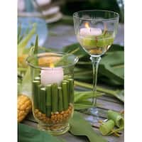 """LED Lighted Spring Bamboo Candle in Vase Canvas Wall Art 15.75"""" x 11.75"""""""