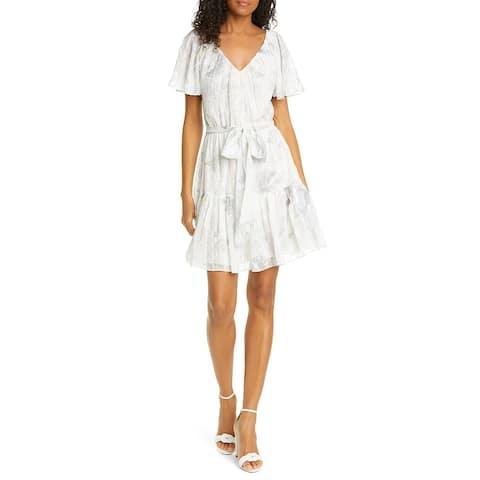 REBECCA TAYLOR Beige Short Sleeve Short Dress S
