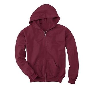 Hanes Comfortblend EcoSmart Full-Zip Kids' Hoodie Sweatshirt - L