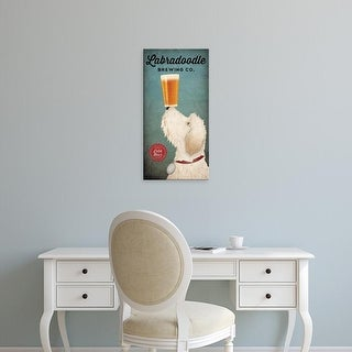 Easy Art Prints Ryan Fowler's 'Labradoodle Brewing' Premium Canvas Art