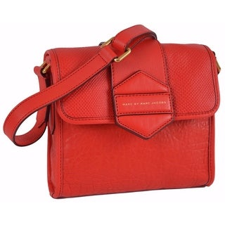 Marc By Marc Jacobs M0004767 Flipping Out RED Leather Crossbody Purse Bag - 7.25 x 8 x 2 inches