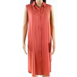 L'Academic Womens Medium Button Down Shift Dress