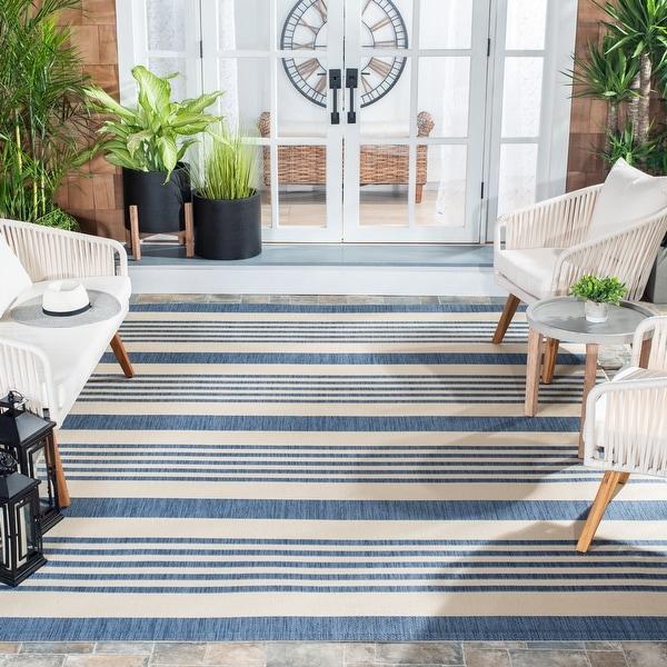 SAFAVIEH Courtyard Charmaine Indoor/ Outdoor Patio Backyard Rug. Opens flyout.