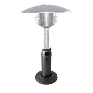 PrimeGlo HLDS032-C Tabletop Propane Patio Heater - hammered silver