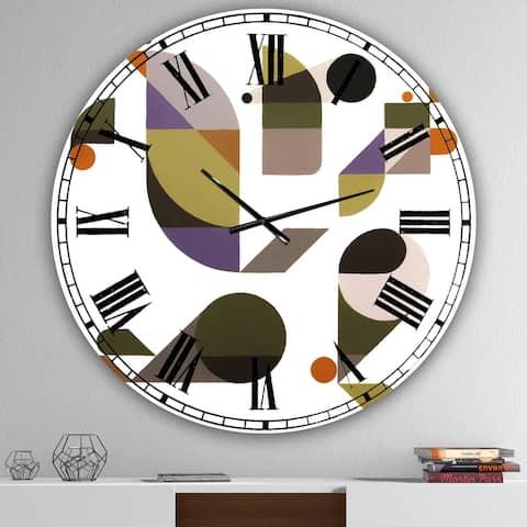Designart 'Bended Knee' Oversized Mid-Century Wall Clock