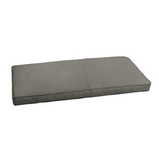 """Link to Sunbrella Charcoal Grey Indoor/ Outdoor Bench Cushion 37"""" to 48"""", Corded Similar Items in Patio Furniture"""