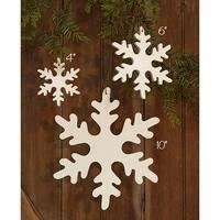 "Snowflake Ornament - 10"""