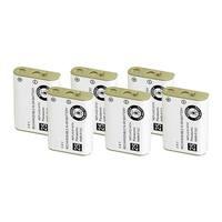 Replacement Battery For Panasonic KX-TGA230S Cordless Phones - P103 (750mAh, 3.6V, NiMH) - 6 Pack