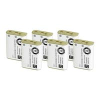 Replacement Battery For Panasonic TYPE 25 Cordless Phones - P103 (750mAh, 3.6V, NiMH) - 6 Pack