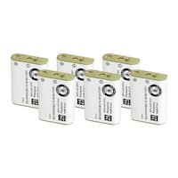 Replacement For Panasonic HHR-P103A Cordless Phone Battery (750mAh, 3.6V, NiMH) - 6 Pack