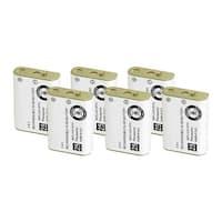 Replacement For Panasonic N4HHGMB00001 Cordless Phone Battery (750mAh, 3.6V, NiMH) - 6 Pack