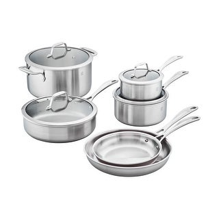 ZWILLING Spirit 3-ply 10-pc Stainless Steel Cookware Set - STAINLESS STEEL