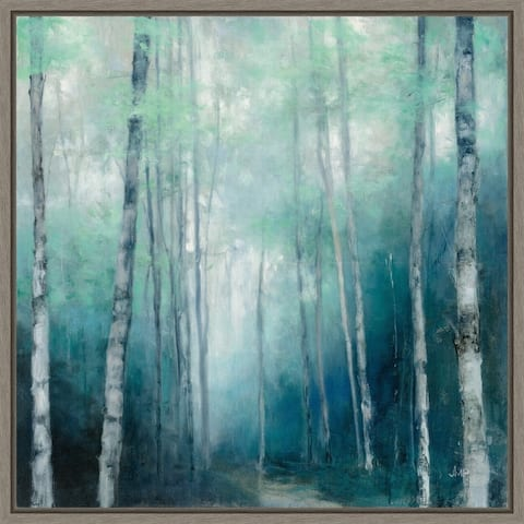 To the Woods (Trees) by Wild Apple Framed Canvas Art