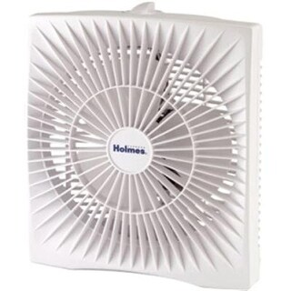 """Holmes - Personal Space Box Fan Two-Speed White """"Product Category: Breakroom And Janitorial/Fans"""""""