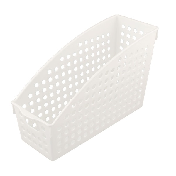 Office School Plastic Paper Magazine Document File Holder Storage Basket White