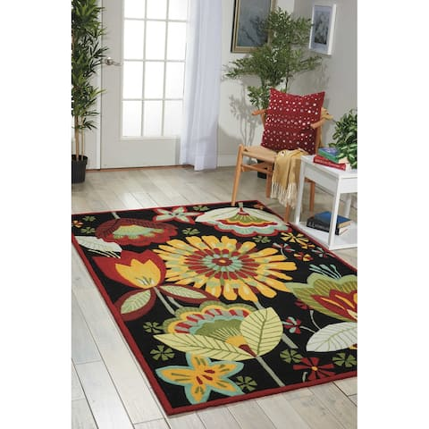 Nourison Fantasy Abstract Wildflower Floral Area Rug