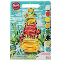 "Paint Works Paint By Number Kit 9""X12""-Frog Pileup"