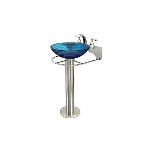 DecoLav 3008 Pedestal Stand for Glass Vessel Sink - Less Sink & Faucet