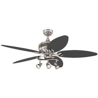 "Westinghouse 7234265 Xavier Ii 52"" 5 Blade Hanging Indoor Ceiling Fan with Reversible Motor, Blades, Light Kit, and Down Rod"