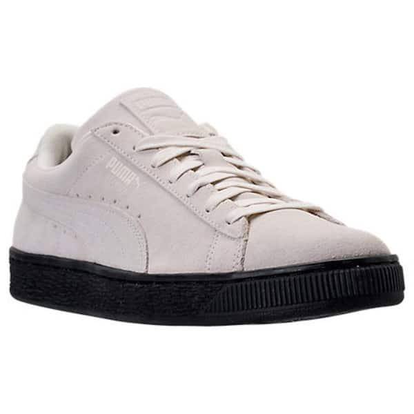 promo code 3be14 df381 Shop Puma Mens Suede Black Sole Leather Low Top Lace Up ...