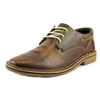Steve Madden Harpoon Men Round Toe Synthetic Brown Oxford