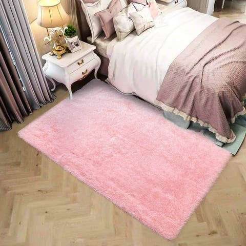 luxury modern design plush home center rug for living room - 5'x8'