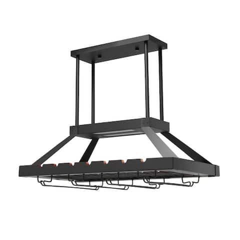 Elegant Designs 2 Light LED Overhead Wine Rack