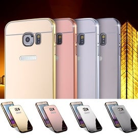 For Samsung Galaxy S6 EDGE Luxury Shock-proof Aluminum Mirror Hard Phone Case Back Cover Skin
