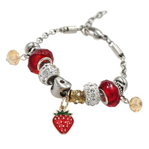 Handmade Strawberry Fields Charm Bracelet