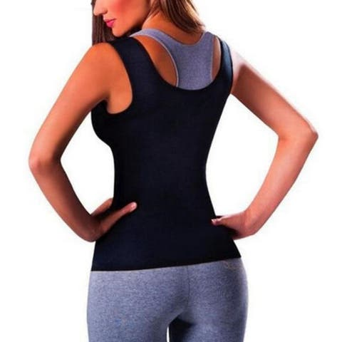 Women Hot Sweat Vest Neoprene Sauna Vest Weight Loss Tummy Fat Burner Slimming