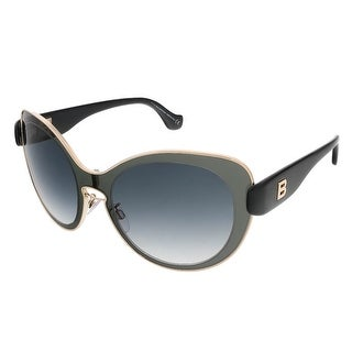 Balenciaga BA0002S 01B Grey/Black Round sunglasses - 56-19-140