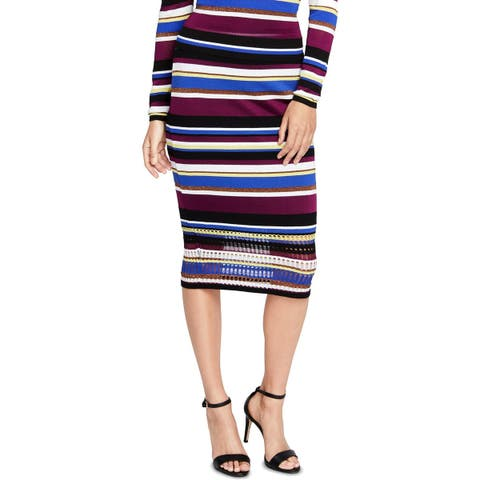 Rachel Rachel Roy Womens Pencil Skirt Sweater Striped