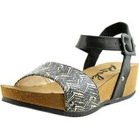 Rocket Dog Gem Women Cream Wood Block Sandals