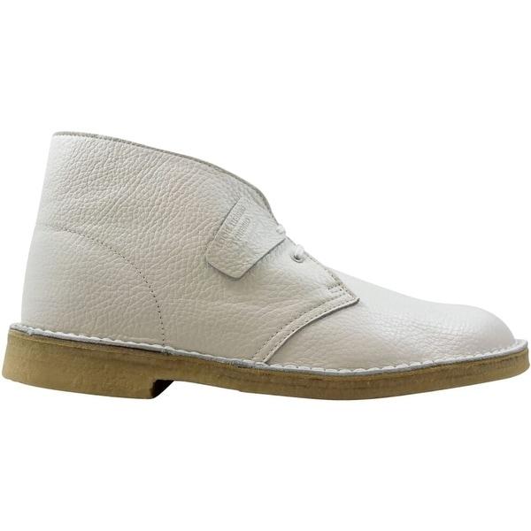 Clarks Desert Boots White Leather