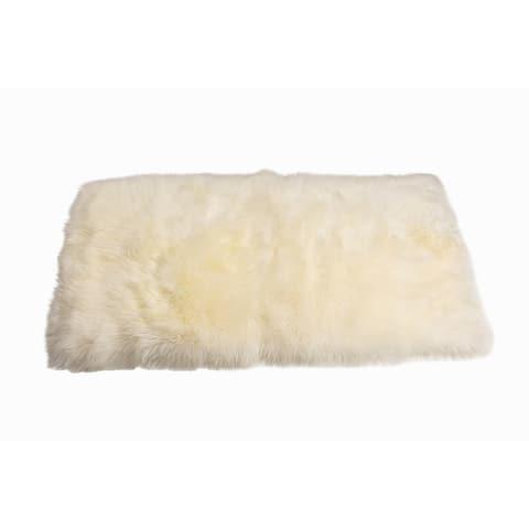 NEW ZEALAND Rectangular Sheepskin RUG 3' X 5' - 3'X5' RECTANGLE
