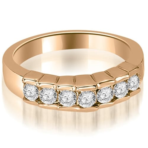 0.55 cttw. 14K Rose Gold Round Cut Diamond Wedding Band