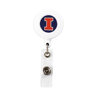 Illinois Fighting Illini Retractable Badge Reel Id Ticket Clip NCAA