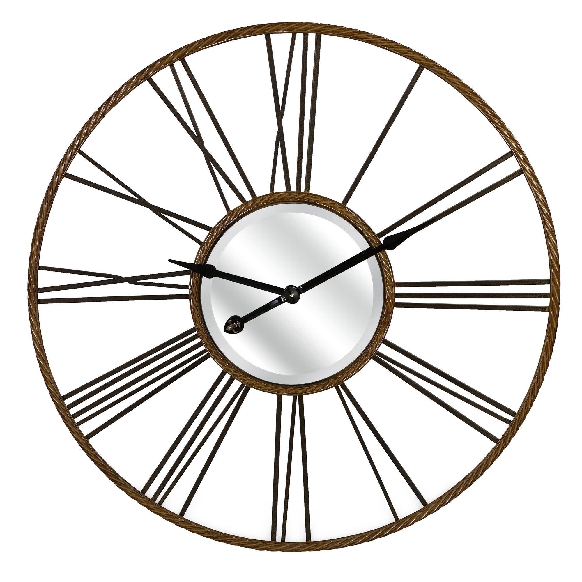 IMAX Home 27510  42 Diameter CKI Rocca Analog Wall Clock - Gray