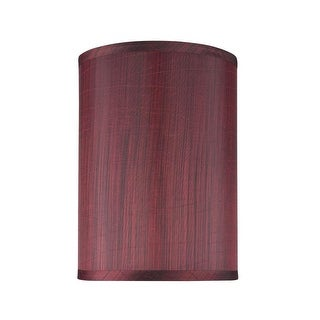 """Link to Aspen Creative Hardback Drum (Cylinder) Shape Spider Construction Lamp Shade in Dark Red (8"""" x 8"""" x 11"""") Similar Items in Lamp Shades"""