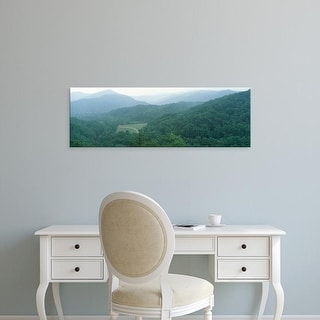 Easy Art Prints Panoramic Images's 'Trees with mountains, Great Smoky Mountains, Tennessee, USA' Premium Canvas Art