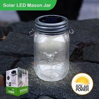Solar Glass Mason Jar LED Light