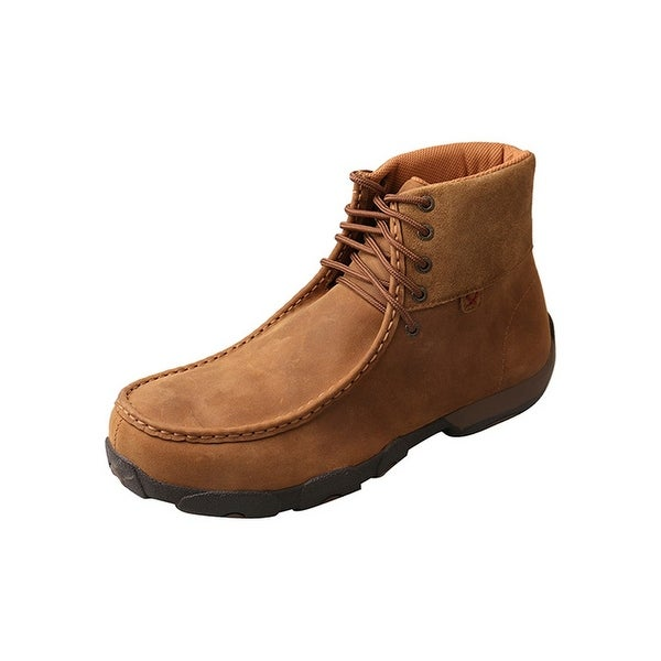 Twisted X Casual Shoes Mens Rubber Sole Alloy Toe Mocs Saddle