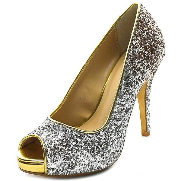 Thalia Sodi Cereza Open Toe Synthetic Platform Heel