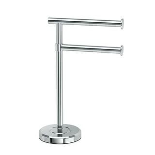 Gatco 1472 Latitude Freestanding Counter top Double Hook Towel Stand