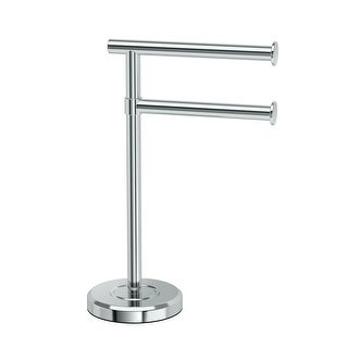 Gatco 1472 Latitude Freestanding Counter top Double Hook Towel Stand