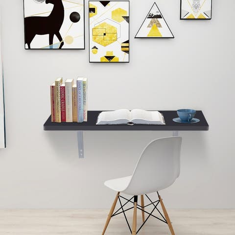 Modern Folding Wall-mounted Desk Black
